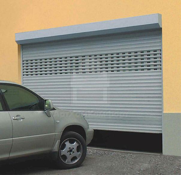рольставни с дверью гаражные